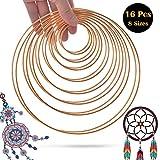 SOSMAR, 16 anelli in metallo, 8 misure, per acchiappasogni fai da te, fai da te, 19 cm, 16...