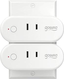 【Amazon Alexa認定】ゴウサンド(Gosund) WiFi スマートプラグ Alexa/Google Home/IFTTT 対応 gs-wp6-2 2個セット