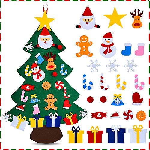 Felt Christmas Tree for Kids - 3.3 FT 3D DIY 26pcs Detachable Ornaments, Xmas Decorations Wall Hanging Gifts for Kids& Christmas Decorations(26pcs)
