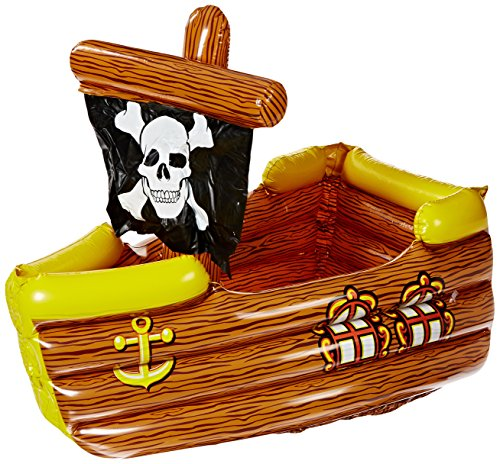 Beistle 50989 Inflatable Pirate Ship Cooler, 3-Feet 3-Inch Width by 33-Inch...