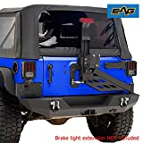 EAG Rear Bumper with Tire Carrier Linkage Offroad Fit for 07-18 Jeep Wrangler JK