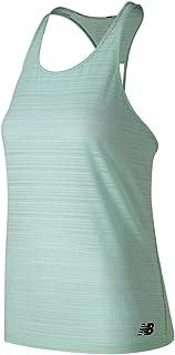 New Balance Women Q Speed Breathe Striped Tank Top
