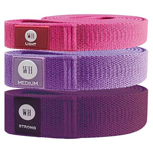 Women's Health Body Soft Resistance Bands 3er-Set, Widerstandsbänder, Trainingsbänder, 3 Stärken, inkl. Trainingsanleitung und Bag
