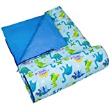 Wildkin Kids Sleeping Bags for Boys and Girls, Measures 57 x 30 x 1.5 Inches, Cotton Blend Materials Sleeping Bag for Kids, Ideal Size for Parties, Camping & Overnight Travel, BPA-free (Dinosaur Land)