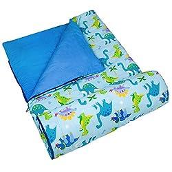 1. Wildkin Kids Original Olive Kids Dinosaur Land Sleeping Bag