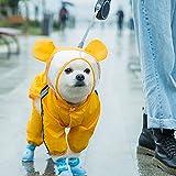 Impermeable para Mascotas, Chaqueta Impermeable para Perros con Tiras Reflectantes, Sudadera con Capucha para Perro con Orificio, Chubasquero Transparente Perro, para Perros(Soportar,XL)