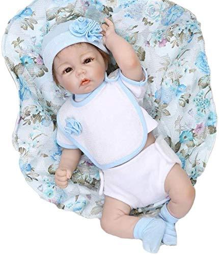 NMQQ Reborn Baby Dolls Weiche Silikon Vinyl Lebensechte Junge Puppe Schöne Real Life Neugeborenes Baby Spielzeug Geschenk, 50 cm