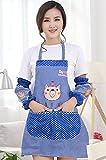 Abcsea Babero Delantal de cocina mujer, delantal con bolsillos para cocina,delantal con mangas...