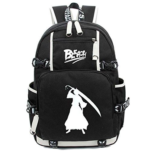 Siawasey Anime Bleach Cosplay Luminous Bookbag Daypack Mochila para computadora portátil Bolsa de Hombro Escuela