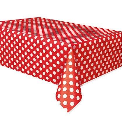 Decoratieve stippen Rood Kunststof tafelkleed