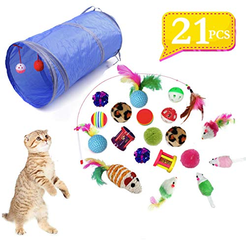 QIMMU Jouets Chat, Kit Jouet Chats, Jouet pour Chat Animaux...