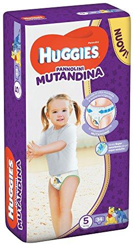 Huggies Pañal braguita, talla 5 (12-17 kg), 1 paquete de 34 unidades
