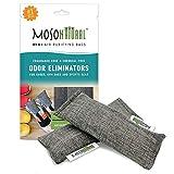 Moso Natural Mini Luftreinigung Taschen, Schuh Deodorator Und Geruch Eliminator, (Zwei Taschen Pro...