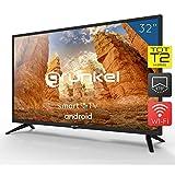 Televisor Smart TV LED 32 Pulgadas Android - Grunkel LED-320 ASMT - 3xHDMI/2xUSB/VGA - TDT Alta Definición T2 - Eficiencia energética A+