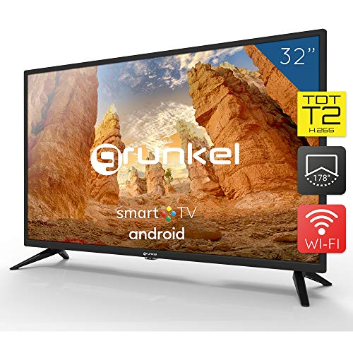 Grunkel - LED-320 ASMT - Televisor LED HD Ready Smart TV Wi-Fi - 32 Pulgadas - Negro