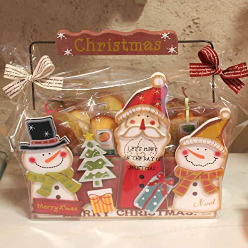 焼き菓子いっぱいのクリスマスWOOD-BOX・和歌山産フルーツを焼き込んだ焼き菓子クリスマスギフトinサンタとスノーマンの木箱