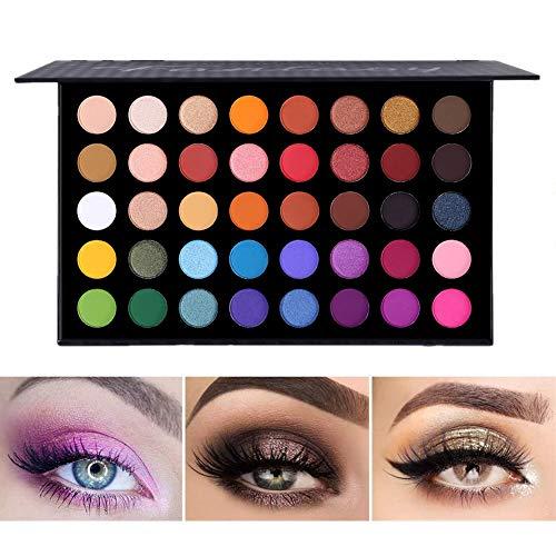Highly Pigmented Eye Makeup Palette, Matte Shimmer Metallic Eyeshadow Pallet Long Lasting Blendable...