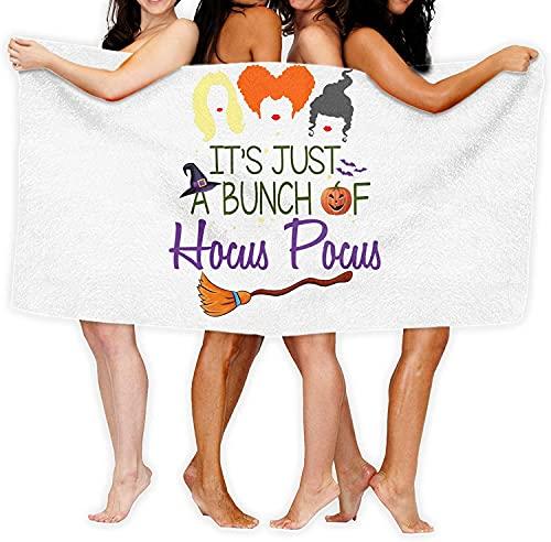 YOMOCO Hocus Pocus - Toalla de playa, yoga, viajes, camping, gimnasio, piscina, suave y cómoda, se puede utilizar como manta (1,70 cm x 140 cm)