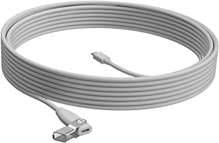 LOGI Rally MIC POD Extension Cable White