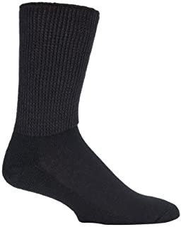 IOMI - 3 Pairs of Extra Wide Diabetic Socks for Swollen Legs in 2 Colours and 4 Sizes