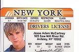 Jesse Mccartney de carnet de conducir/Fake I.D. Identificación para Boy band sueño calle ventiladores