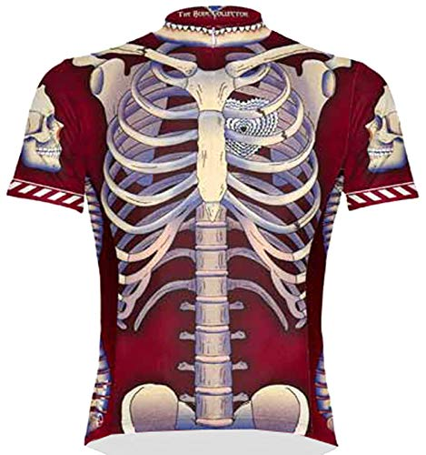Primal Wear Bone Collector Skeleton Cycling Jersey Men's Short Sleeve Large Red