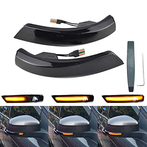 Links Rechts Spiegelblinker Dynamische LED Blinkerleuchten Blinker für Focus MK3 MK2 Mondeo MK4, mit E-Prüfzeichen