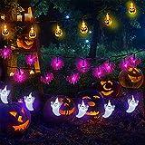 Halloween Lights Halloween String Lights 3Pack 29ft 60 LED 3D Pumpkin Ghost Bat String Lights Battery Operated Halloween Decorations