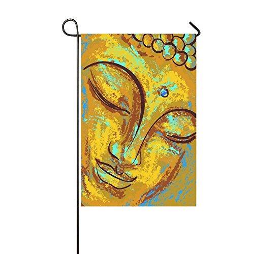 PicaqiuXzzz Custom Home Outdoor Garden Flag Cute Buddha with Love Gesture Garden Flag House Banner 12 x 18 inch