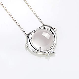 Necklace Pisces 925 Sterling Silver Necklace For Women Constellation Zodiac 12 Horoscope Astrology Pendant Necklace Birthd...