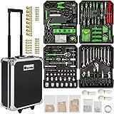 TecTake Set de herramientas (1200 piezas) en maletín carrito...