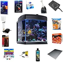 JBJ 28 Gallon Nano Cube WiFi LED Aquarium Deluxe Reef Package Without The Stand