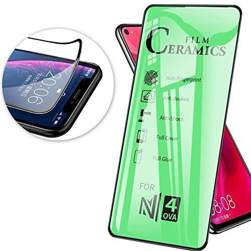 cofi1453 Schutzglas 9D Full Covered Keramik kompatibel mit Samsung Galaxy A71 (A715F) Premium Tempered Glas Displayglas Panzer Folie Schutzfolie Anti-Finger