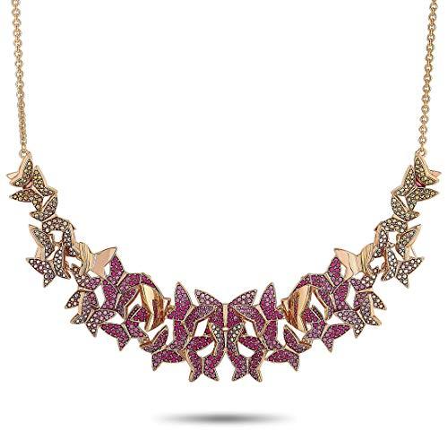 Swarovski Damen-Kette LILIA Metall Swarovski Kristalle One Size, roségold