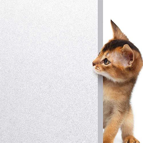 rabbitgoo Vinilos para Ventanas Privacidad Pegatina Cristal Translúcida Adhesiva Decorativa del Vidrio Evitar Peligro de Rotura de Cristal con Electricida Estática Control de Calor y Anti UV 89X200CM