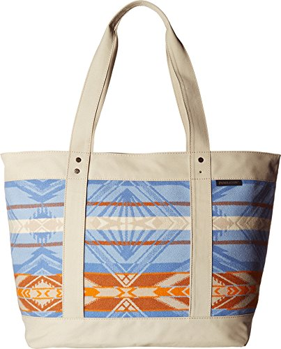 Pendleton Unisex Large Zip Tote Coquille River/Blue/Orange Handbag