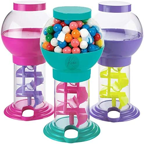 Kicko Twirling Gumball Machines - 1 Pack - 9.75 Inch - Galaxy Candy Dispenser - for Birthdays, Kiddie Parties, Christmas, Novelties, Kitchen Buffet, Party Favors and Supplies