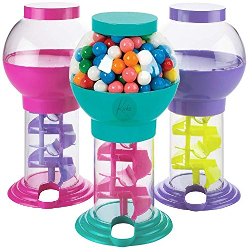 Kicko Twirling Gumball Machines  1 Pack  975 Inch  Galaxy Candy Dispenser  for Birthdays Kiddie Parties Christmas Novelties Kitchen Buffet Party Favors and Supplies