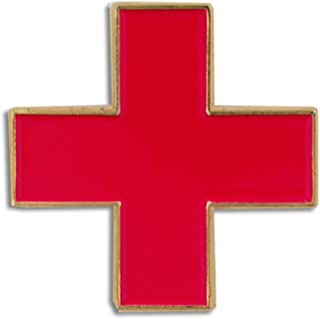 International Red Cross Medical Enamel Lapel Pin 3/4