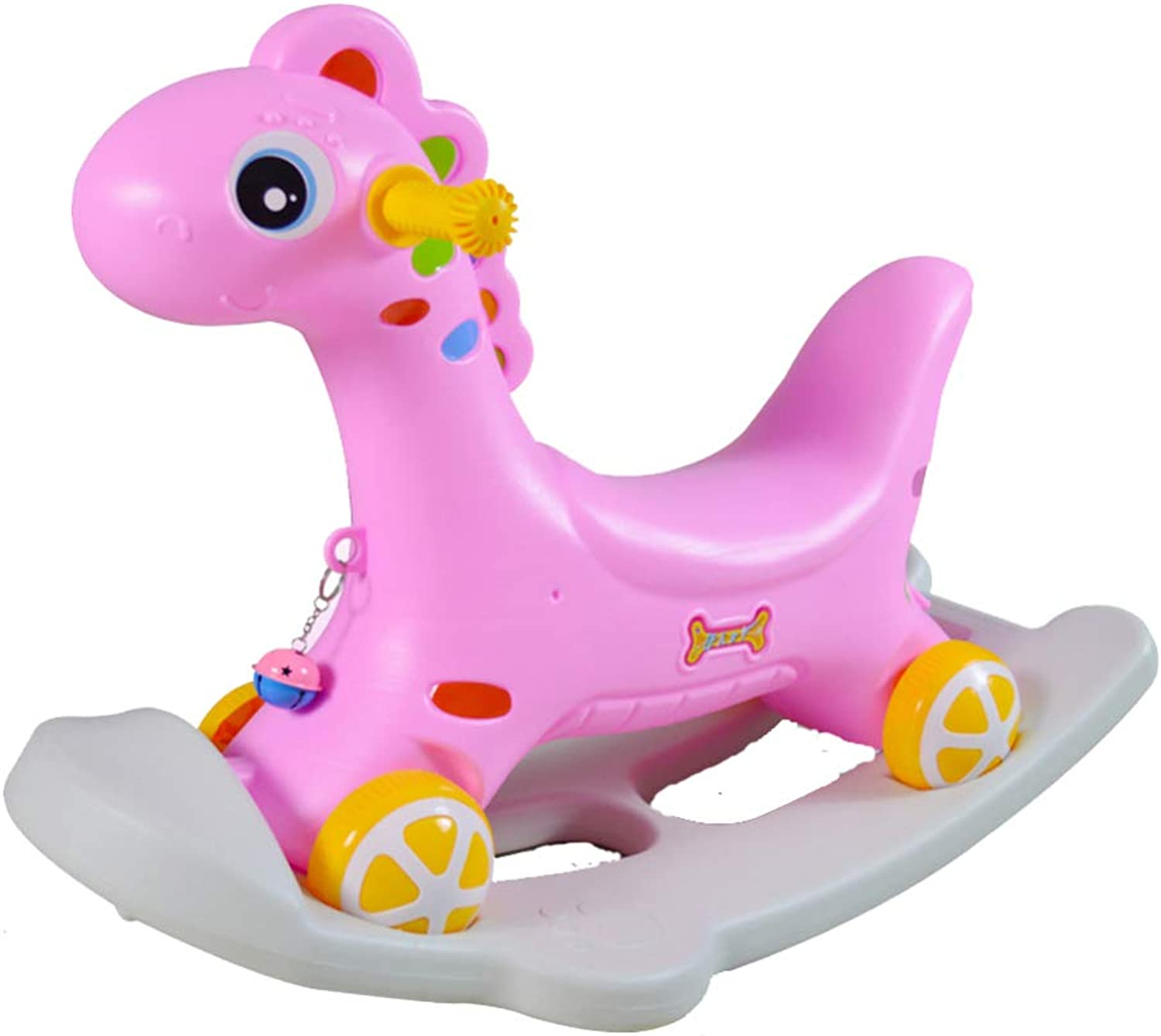 Rocking Horse,1-3 Years Old Baby Rocking Horse,Garden Rocking Horse,Indoor-Outdoor Rocking Horse Toy,Pink