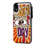 MoMo iPhone XR caso April Fools Day del cuoio della carta di credito del supporto della fessura Soft Cover di protezione di chiusura