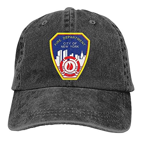 398 New York City Fire Department Casquette de baseball réglable pour homme Noir