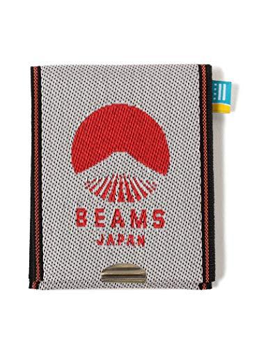 (ビームス ジャパン)BEAMS JAPAN/財布 小物 高田織物 × BEAMS JAPAN 別注 畳縁 ビームス ジャパン ロゴ カード & コイン ウォレット 赤 -