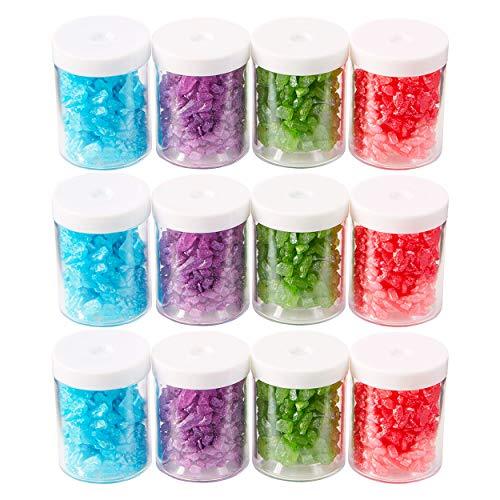 Wilton Sugar Gems, 12 Pack, 0.7 oz. Each, 4 Colors - Dessert Decorations by Rosanna Pansino of Nerdy Gummies