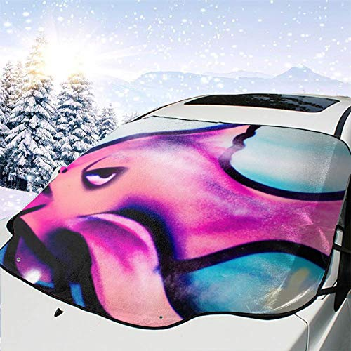 Roze vis lippen behang auto sneeuw cover Frost zon voorruit schaduw waterdichte winter zomer auto voor auto vrachtwagen van en SUV gepersonaliseerd