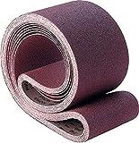 PFERD 49138 Benchstand Abrasive Belt, Aluminum Oxide A, 48' Length x 2' Width, 120 Grit (Pack of 10)