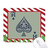 カードのギャンブルチップパターン遊び道具 ゴムクリスマスキャンディマウスパッド
