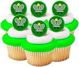 Tennis Easy Toppers Cake/ Cupcake Decoration Topper Rings -12pk Toppers