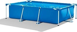 QQLK Frame Pool Piscina Desmontable Tubular 260 X 160 X 65 Cm- Piscina Sobresuelo(2282L)- Malla Compuesta De 3 Capas- Montaje RaPido- Piscina para NinOs Y Adultos - Azul