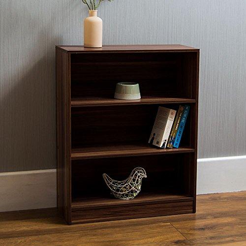 Vida Designs Cambridge, 3Ebenen, Bücherregal, Regal, Walnuss-Holz, Display-Schrank, Büro, Wohnzimmer